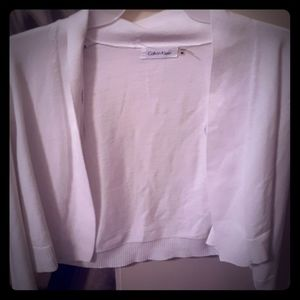 NWT!Womens Calvin Klein cardigan..white/medium